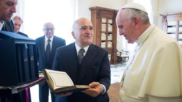 Prince Talal et Pape François