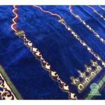 tapis prière bleu