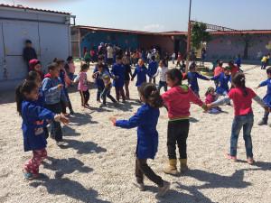 Enfants réfugiés syriens, plaine de la Bekaa (Liban), 30 avril 2018